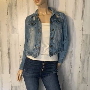 JouJou Light Wash Jean Jacket